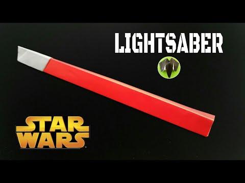 Lightsaber - STAR WARS - DIY | Origami | Tutorial - 754
