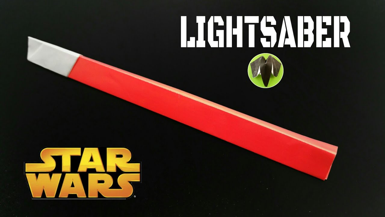 Lightsaber Star Wars Diy Origami Tutorial 754 Youtube