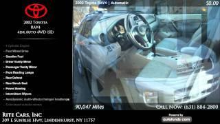 2002 Toyota RAV4 4dr Auto 4WD (SE) | Rite Cars, Inc, Lindenhurst, NY - SOLD