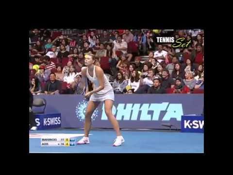Murray & Sharapova vs Mirza & Bopanna FULL MATCH IPTL Manila 2014