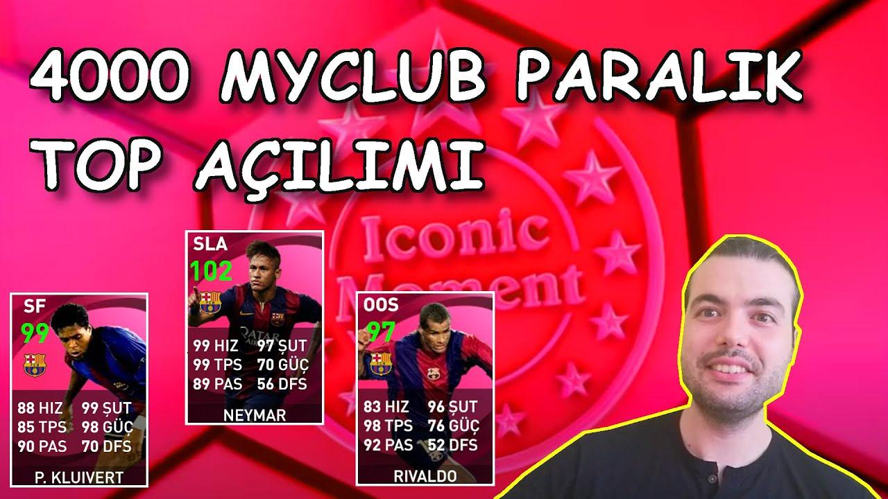 TARİHİ TOP AÇILIMIM | 4000 MYCLUB PARALIK BARCELONA ICON PAKET AÇILIŞI ( Pes 2021 Mobile )