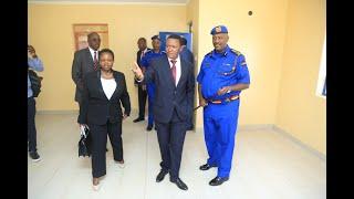 Machakos Governor Alfred Mutua hands over new houses to IG Mutyambai