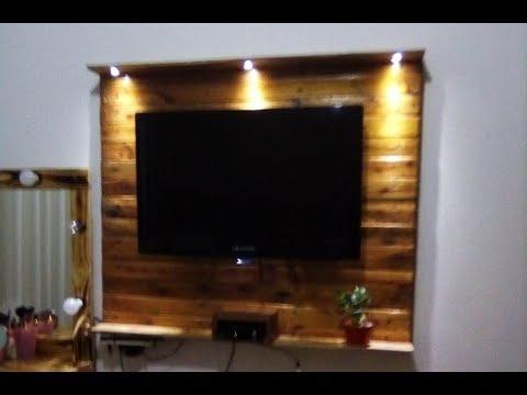 Diy Painel De Pallet Para Tv Tv Pallet Panel Youtube