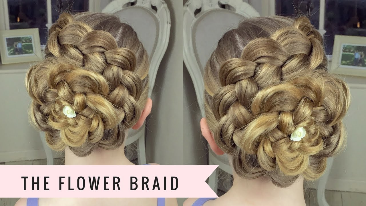 The Flower Braid By Sweethearts Hair Youtube