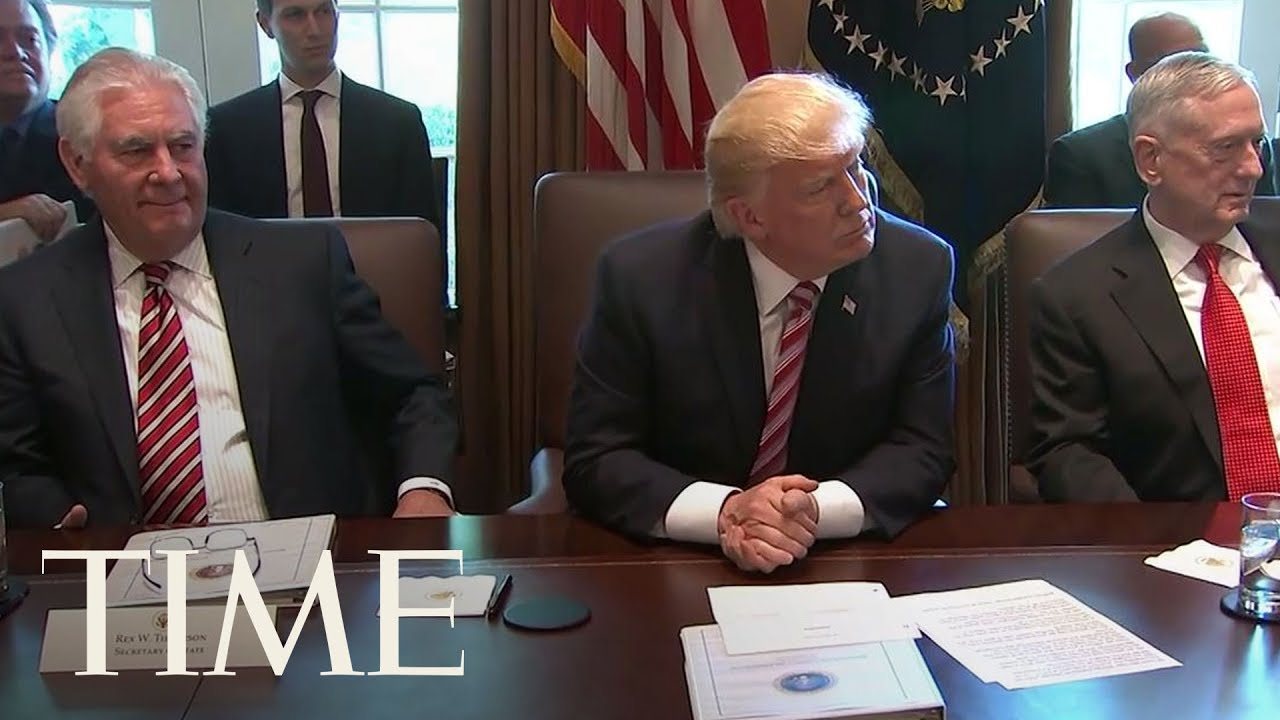 President Trump's Cabinet Members Flatter Him During Meeting ...