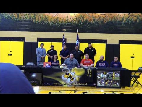 Ricky Estimbo Signing Letter of Intent