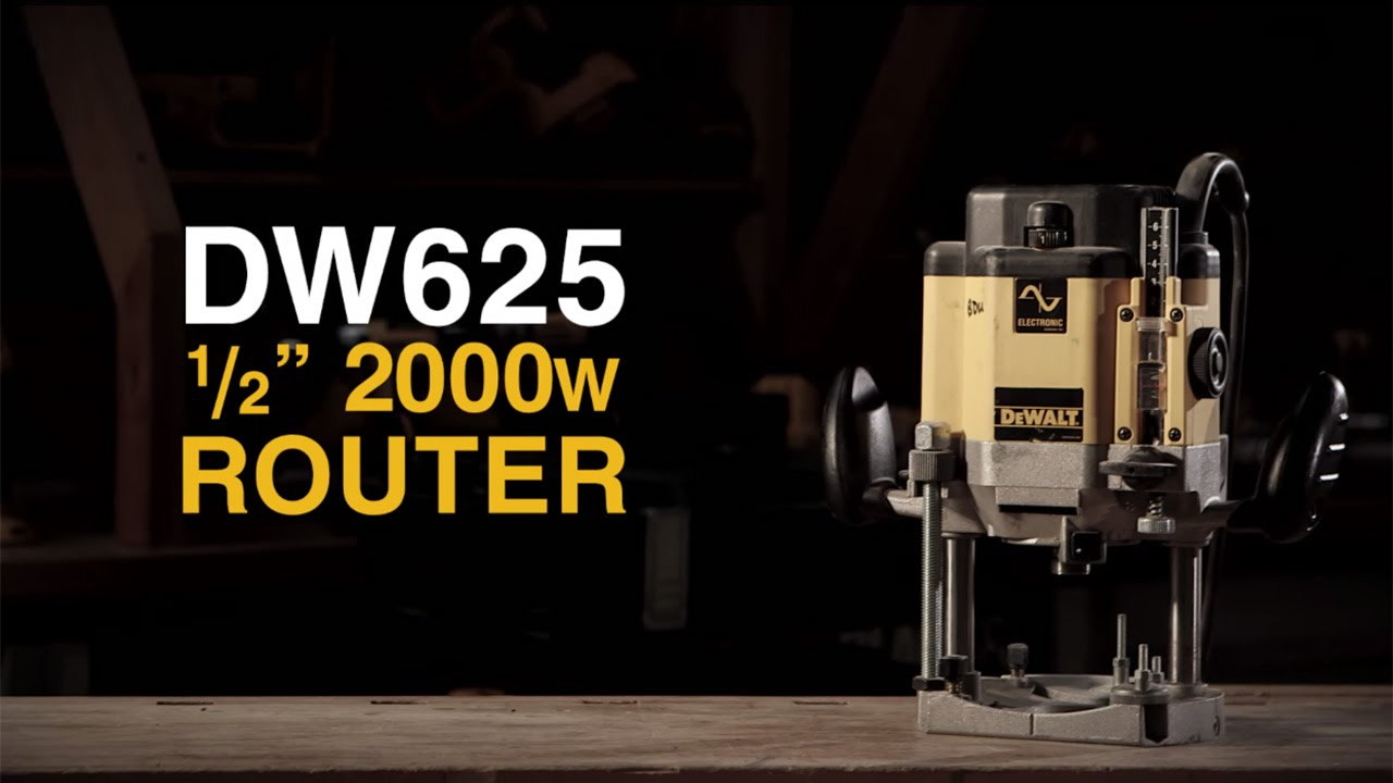 Dw625 2000w half inch router from dewalt youtube dw625 2000w half inch router from dewalt greentooth Gallery