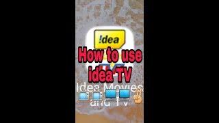 How to use idea TV by technical redar