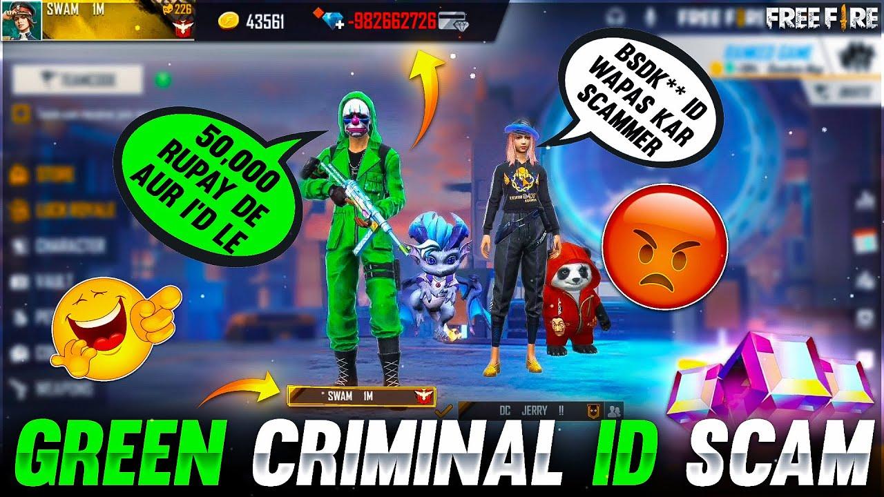 AM I SCAMMER ?😭 GREEN CRIMINAL & BUNNY MP40 ID SCAM || GAREENA FREE FIRE