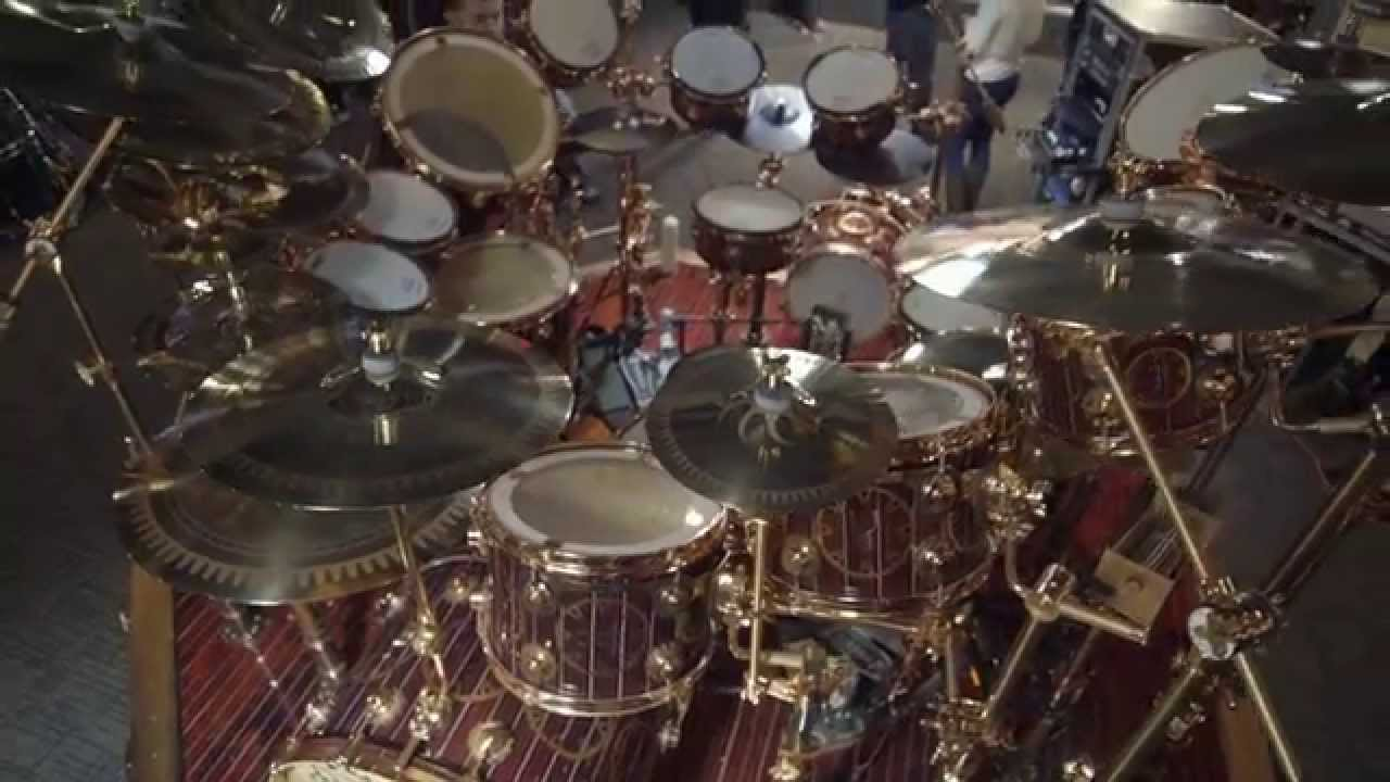 Neil Peart s Time Machine Hybrid Drum Kit   YouTube