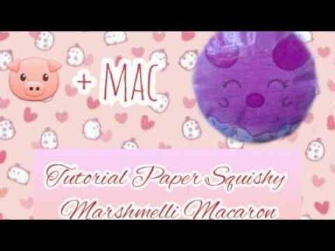 Tutorial Paper Squishy Marshmelli Macaron🐷💛