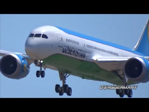 Uzbekistan Airways Boeing 787 Dreamliner 1st Flight From KPAE to KMWH w/ Missed Approach