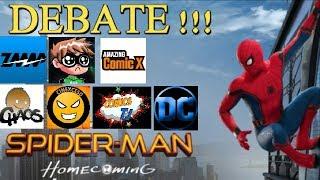 DEBATE: spiderman homecoming - con amigos youtubers como cinexceso - tj comics