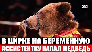 Нападение медведя на беременную ассистентку в орловском цирке попало на видео - Новости мира 24