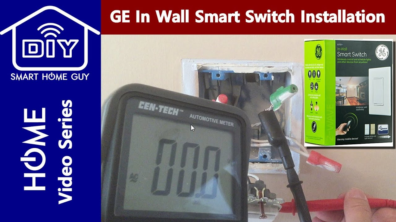 Lighting Wiring Light Switch With Neutral Zwave Home Installation And Setup Of The Ge 12722 In Wall Smart For Your