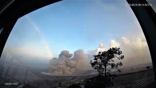 LIVE 🔴 KILAUEA SUMMIT & FISSURE ERUPTION WEBCAMS & EARTHQUAKE MAP- HAWAII VOLCANO USGS HVO May 2018