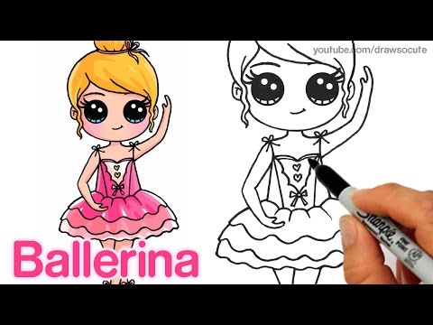 How To Draw A Ballerina Dancer Easy And Cute Youtube