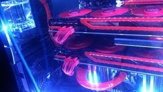 twin AMD HD 7990 Video Cards in CrossfireX!