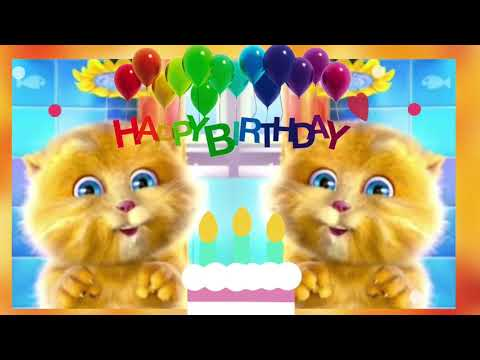 Singing Cats Happy Birthday Song