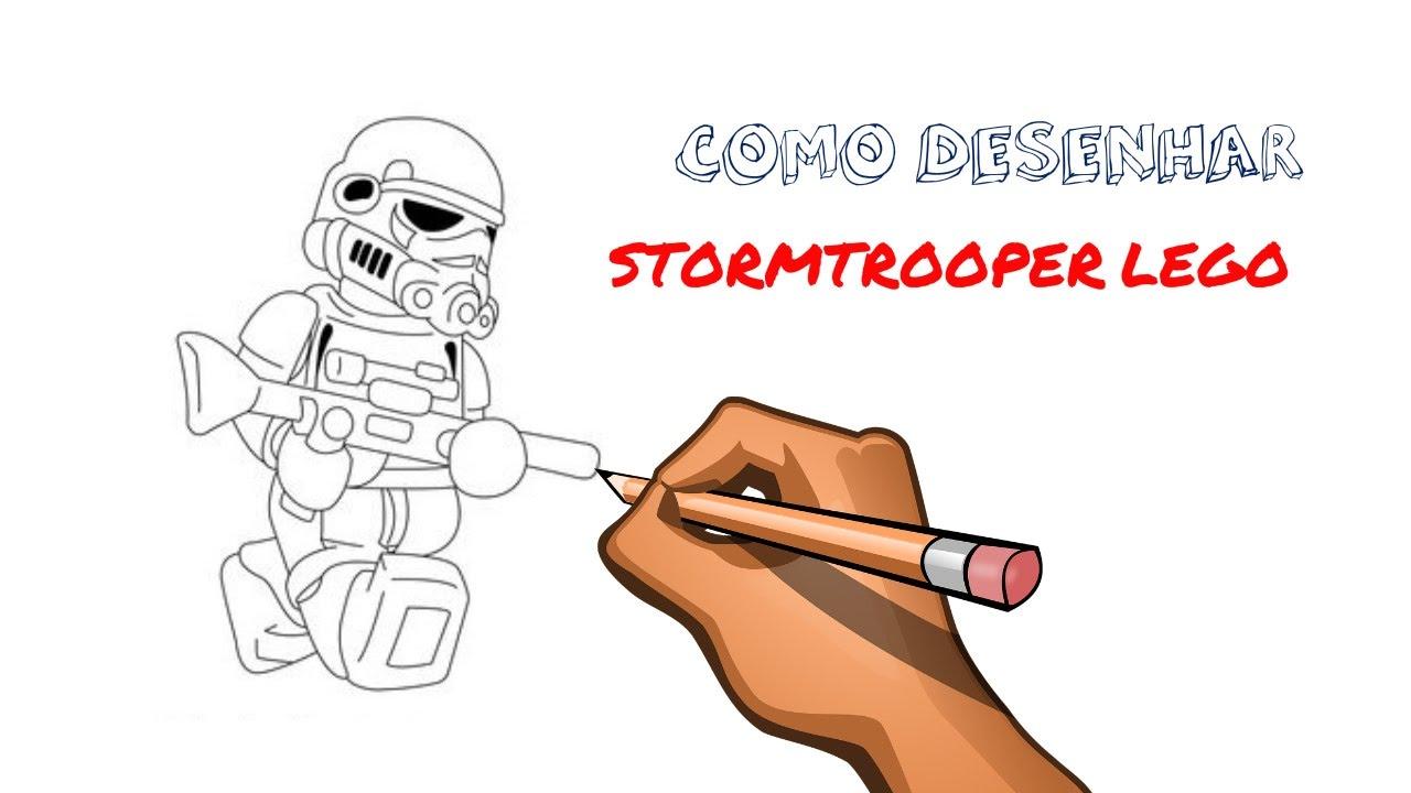 como desenhar stormtrooper lego youtube
