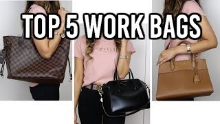 TOP 5 DESIGNER WORK BAGS | Louis Vuitton Neverfull, Givenchy Antigona and more | Isabelle Ahn