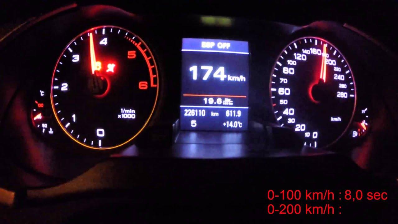Audi A4 B8 2 0tdi 170HP acceleration 0 100 0 200