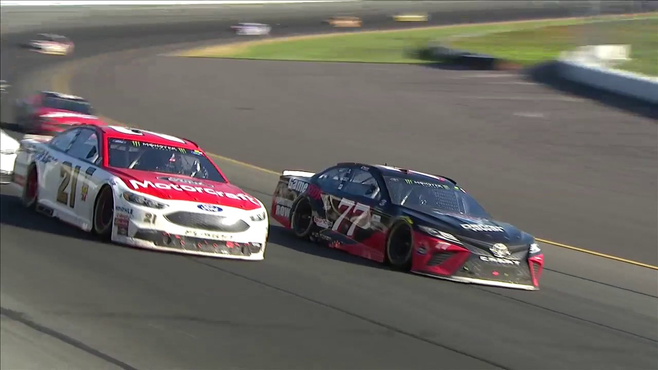 Ryan Blaney holds off Kevin Harvick at Pocono for first career Cup win