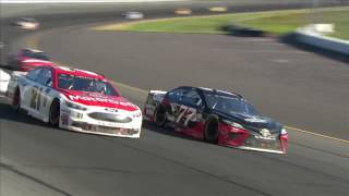 Blaney Holds Off Harvick For First Monster Energy Series Win