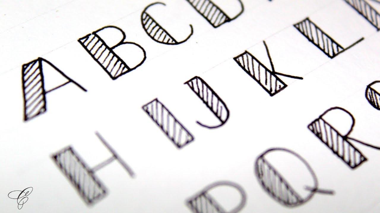 How to write FANCY letters  Fancy Letters  calligraphy fancy letters