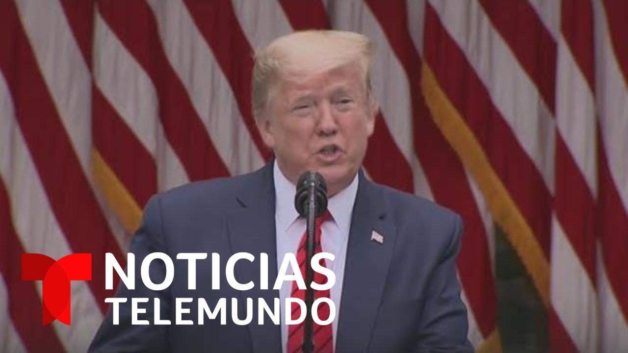 La prensa cuestiona a Trump sobre el control del COVID-19 | Noticias Telemundo