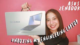Unboxing my Asus Zenbook 13! (My Engineering Laptop)   Clymene Micha