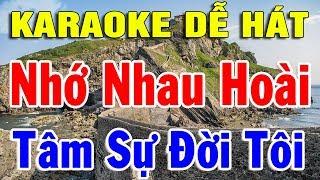 Karaoke Liên khúc Nhạc Vàng Trữ Tình Bolero Dễ Hát Nhất | Nhạc Sống karaoke Nhạc Sến Nhớ Nhau Hoài