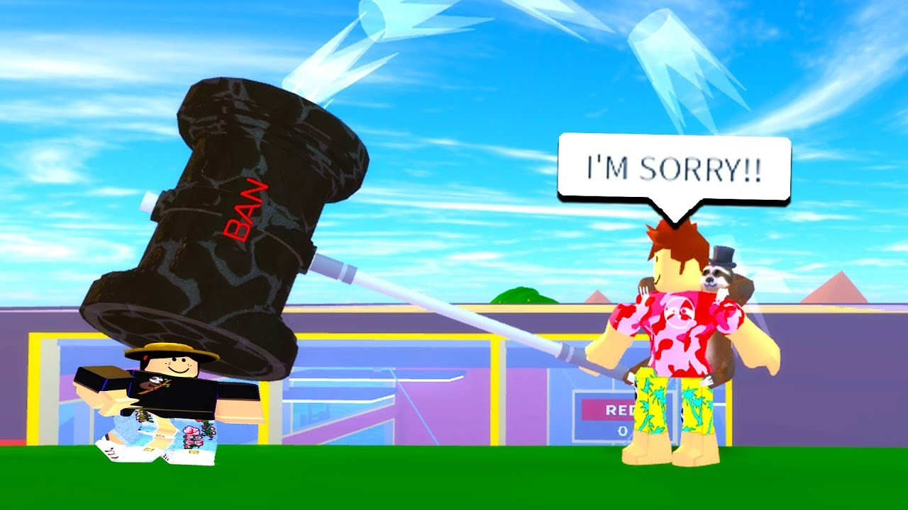 I Got A Ban Hammer From The New Admin Commands Roblox Youtube