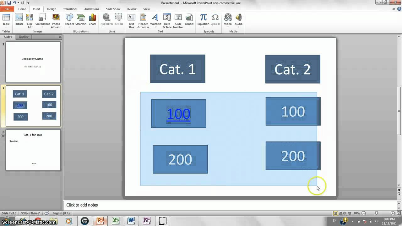 how to make jeopardy game on powerpoint 2010 - youtube, Powerpoint templates