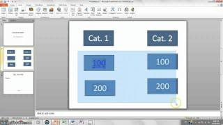 How to make Jeopardy Game on PowerPoint 2010