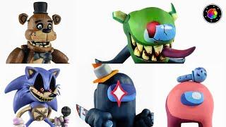 CREANDO TODOS los MODS de FNF (Impostor Verde V3, Freddy, Sonic.exe y..) Plastilina #6 | PlastiVerse