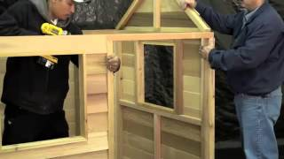 Assembling A Play Cabin By Cedarshed Industries