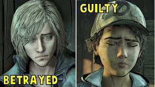Violet Reaction if Clem Romanced Her But Saved Louis -All Choices- The Walking Dead Final Season Ep3