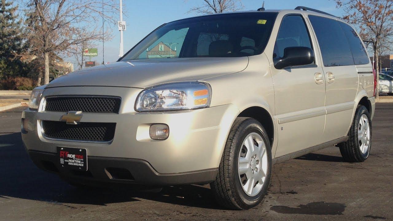 2009 Chevrolet Uplander LT  Winnipeg MB  DVD Short Wheel Base