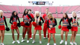 UofL Cheerleaders have a Glee Moment