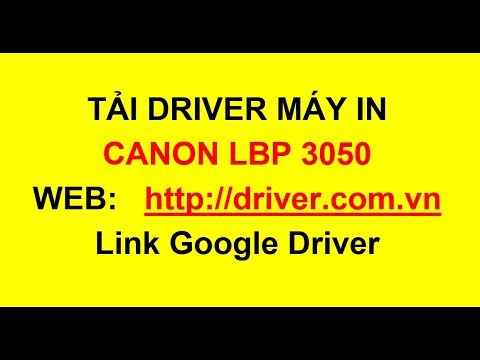 Download Driver máy in Canon LBP 3050, Canon printer driver Canon LBP 3050    - Driver.com.vn
