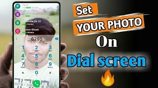 change Dial screen background🔥||using own photo call dial pad and call screen|| screenshot 2