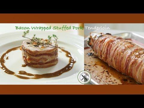 Bacon Wrapped Stuffed Pork Tenderloin – Bruno Albouze – THE REAL DEAL