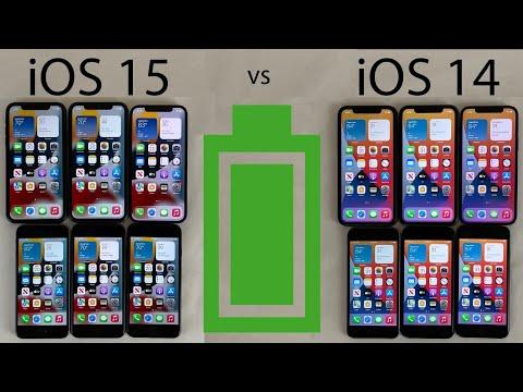 iOS 15 vs iOS 14.8 BATTERY Test on iPhone 12, 11, XR, 8, 7, & 6s