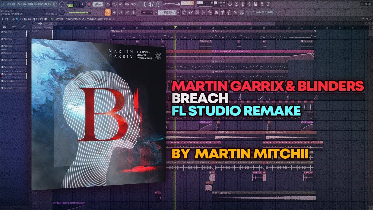 Martin Garrix & Blinders - Breach [FL Studio Remake + FREE FLP]