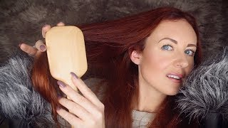 Softest ASMR Hair Brushing ✨ Nail Tapping & Hand Sounds
