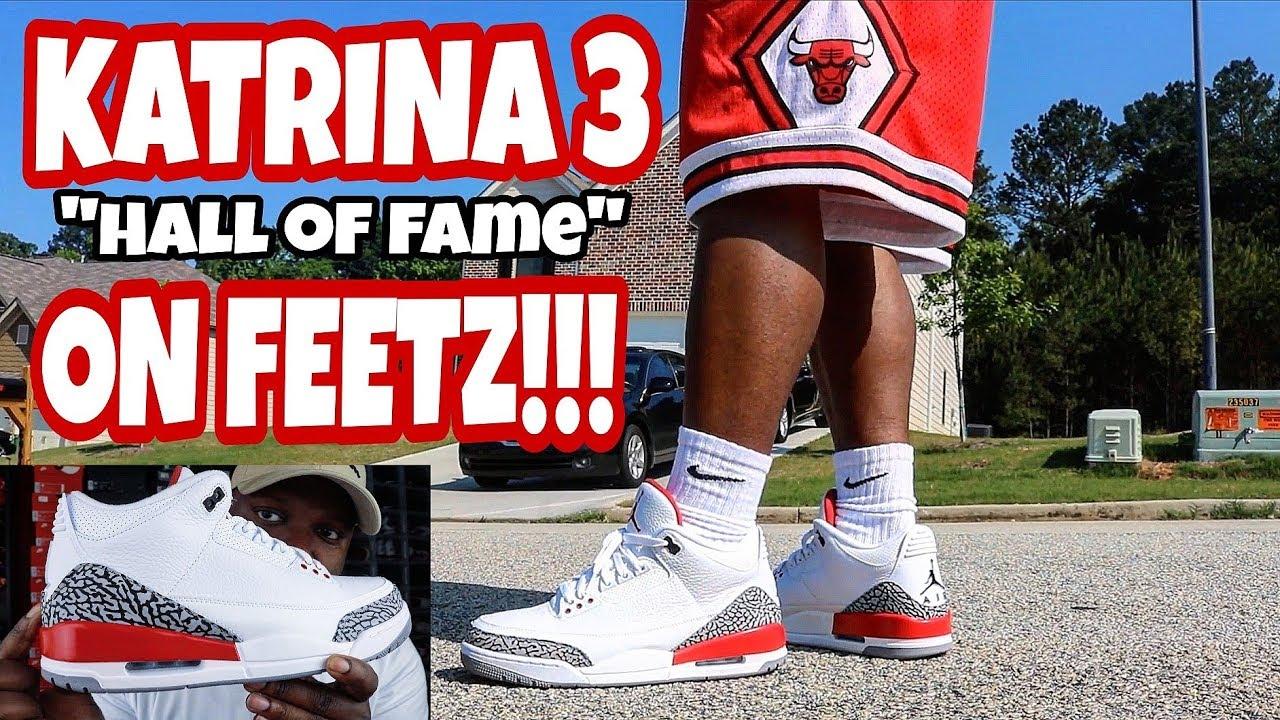jordan 3 hall of fame on feet