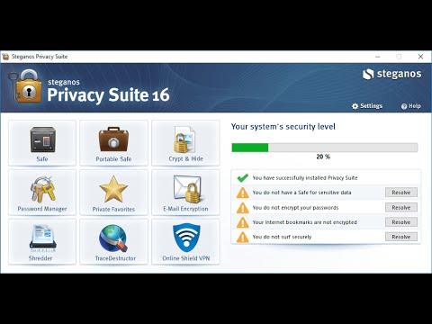 (обычная цена 70$) Бесплатно ! Steganos Private Suite для всесторонней защиты ваших данных на PC