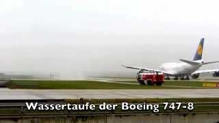 Boing 747-8 Airport Munich Flughafen München