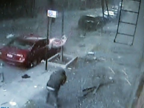 Security camera captures East Harlem building explosion